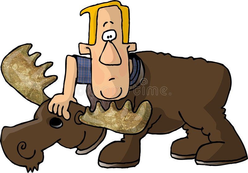 Download Man in a Moose Costume stock illustration. Illustration of moose - 30724