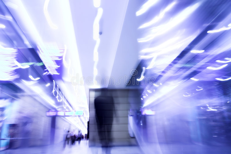 Man moovig in office - motion blur stock images