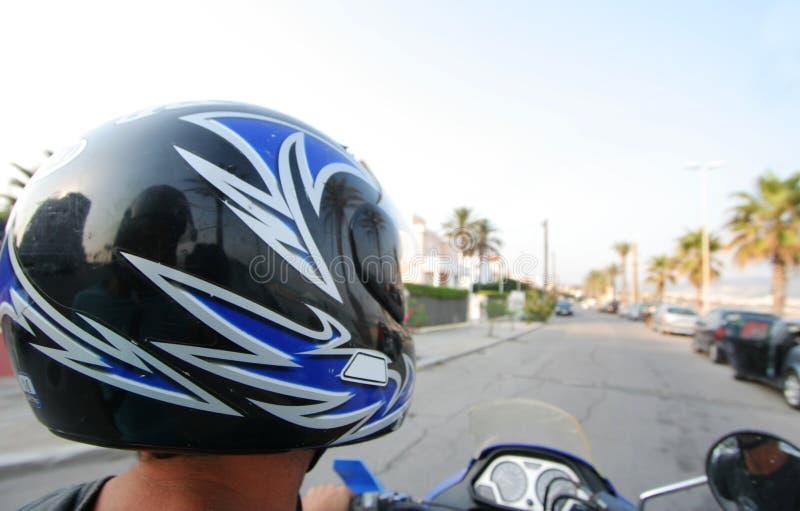 Man On Motorbike Royalty Free Stock Photo