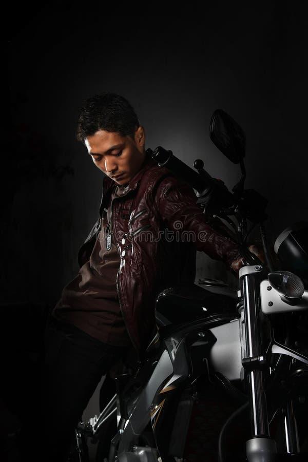 Download Man and motorcycle stock image. Image of bike, biker - 11039567