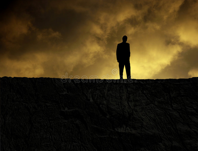 Download Man on a mountain stock image. Image of clouds, memorial - 3275199