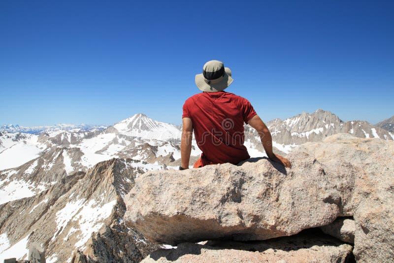 Download Man On Mountain Top Stock Photo - Image: 21077230
