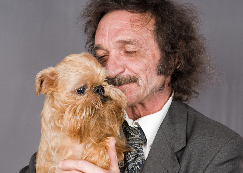 Download Man With Moustaches And The Doggie With A Beard Stock Photos - Image: 14151313
