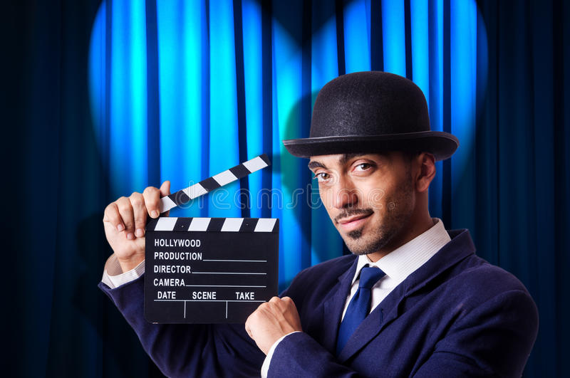 Download Man With Movie Clapper Royalty Free Stock Photos - Image: 32814518