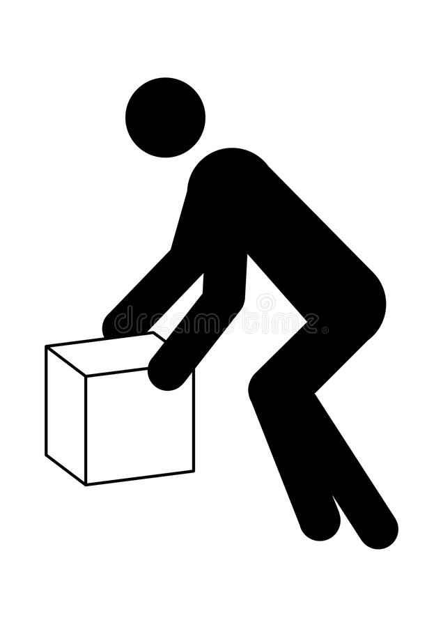 Man Moving Box Graphic Royalty Free Stock Photography