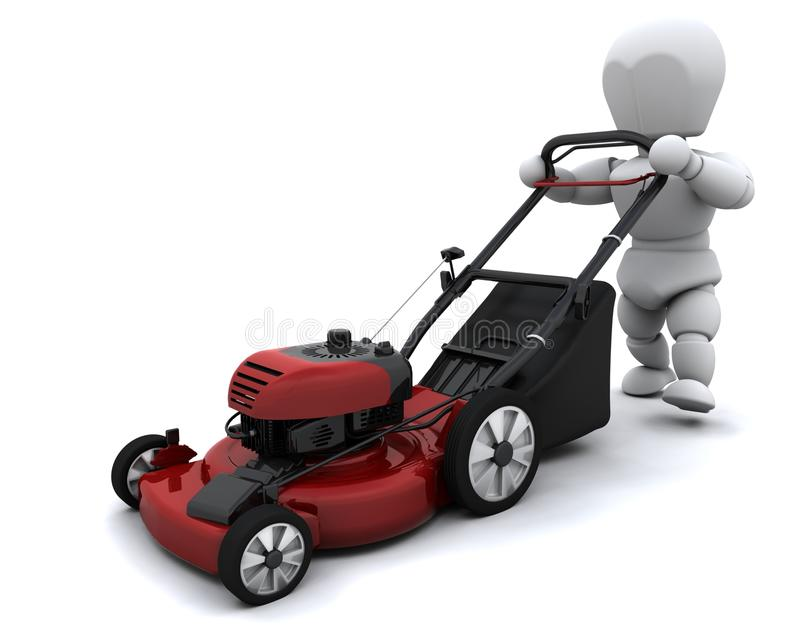 Download Man Mowing The Lawn Royalty Free Stock Images - Image: 16834609