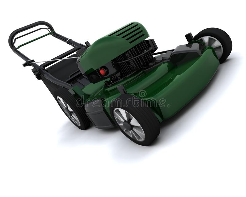 Man Mowing the Lawn vector illustration
