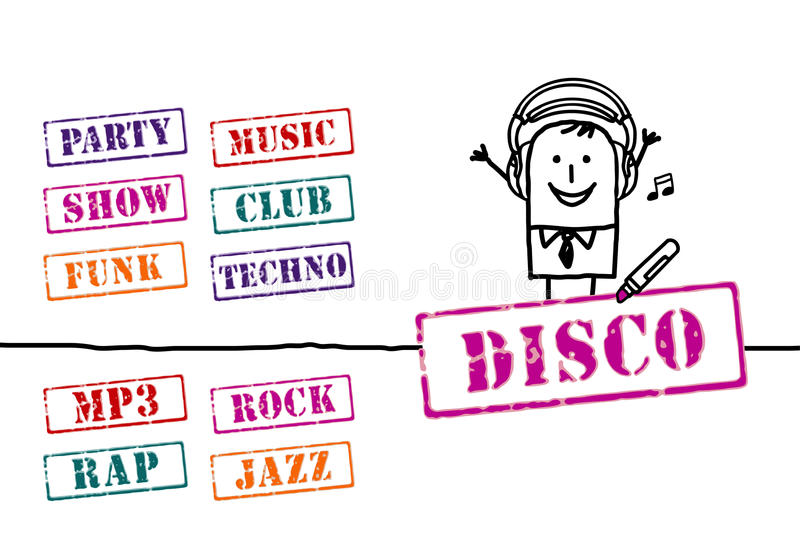 Man And Music Words Royalty Free Stock Photo
