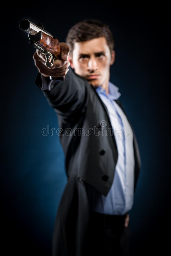 Download Man with musket stock photo. Image of black, male, shooter - 33245058