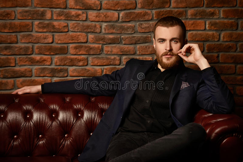 Man with mustache royalty free stock photography