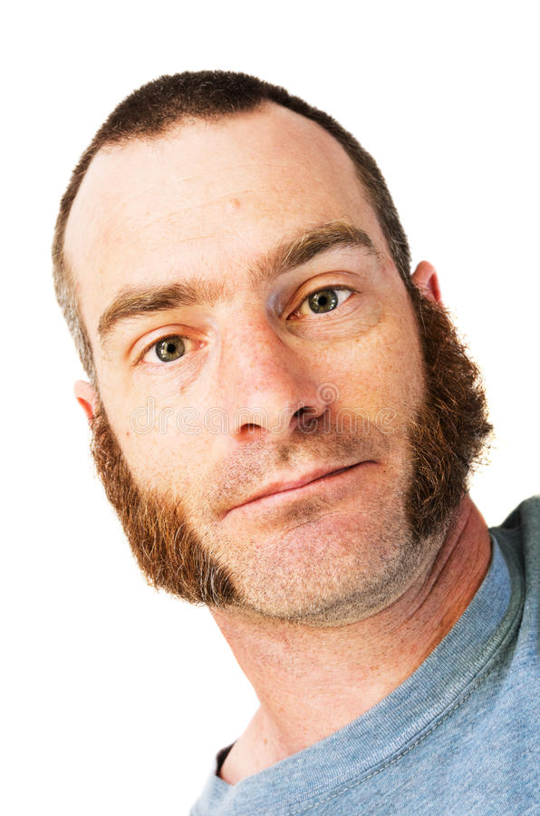 Man with Mutton Chops. Portrait of man with mutton chops sideburns and short hair royalty free stock photo