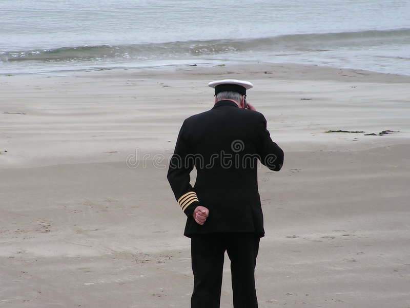 Man in Navy Uniform royalty free stock images