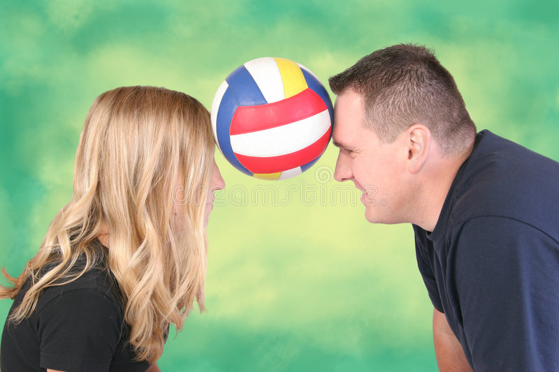 Man nd Girl With Ball royalty free stock image