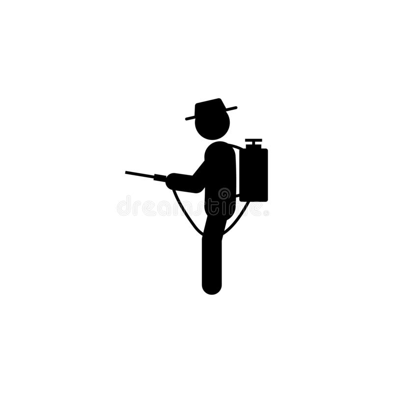 Man nebulizer icon. Element of gardening icon for mobile concept and web apps. Glyph nebulizer can be used for web and mobile. On white bakgorund royalty free illustration