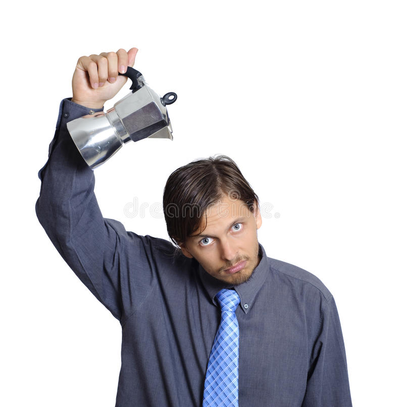 Download Man needs his coffee stock photo. Image of corporate - 13284020