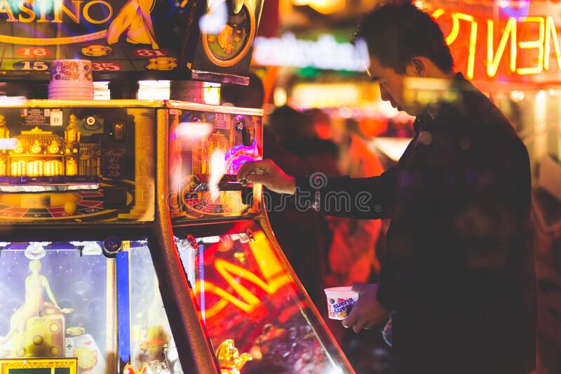 Man At Neon Lit Game Free Public Domain Cc0 Image