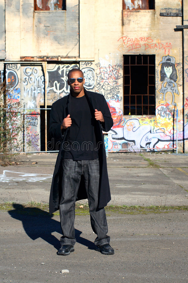 Download Man next to old building stock image. Image of handsome - 4098153