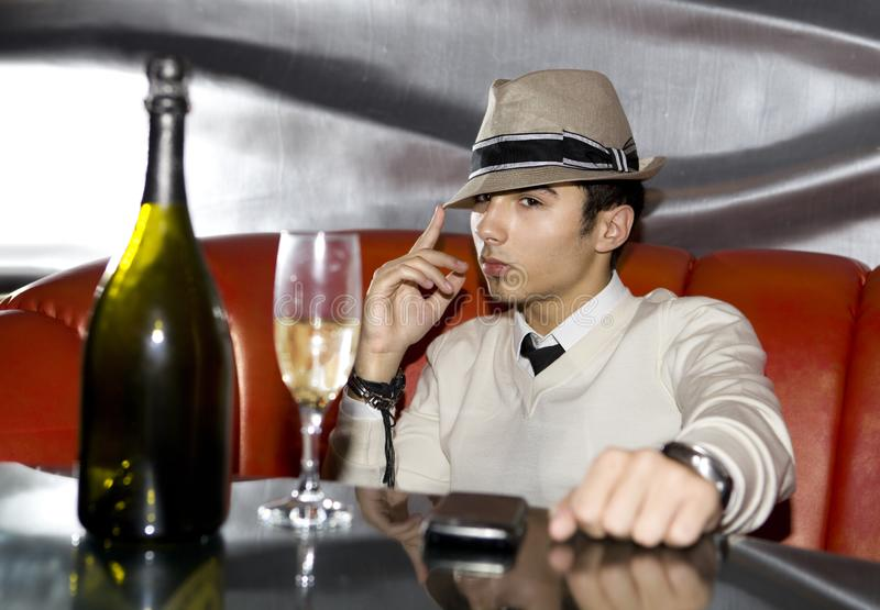 Download Man in night club stock photo. Image of colors, night - 16147338