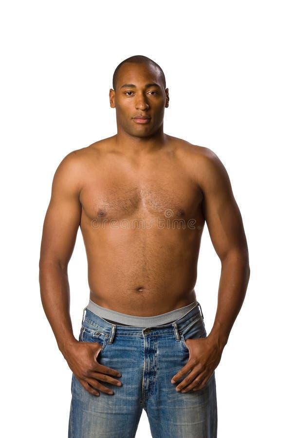 Man with no shirt royalty free stock photos