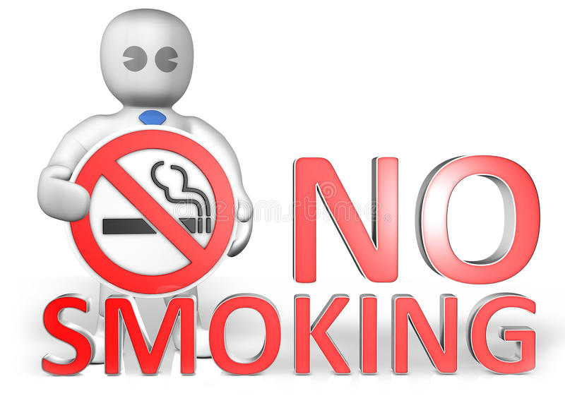 Download A Man With A No Smoking Warning Stock Photo - Image: 14663870