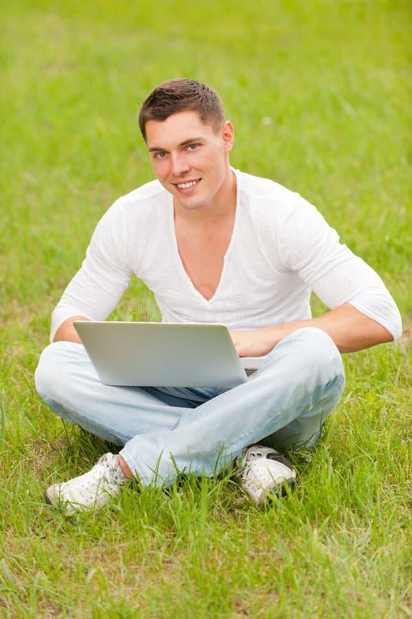 Man With Notebook Stock Photos