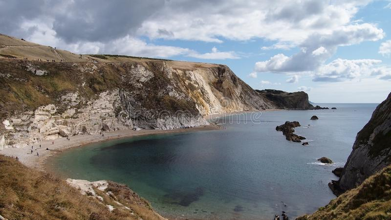 Man O`War Beach near Durdle Door, Weymouth, in Dorset, Southern England royalty free stock image