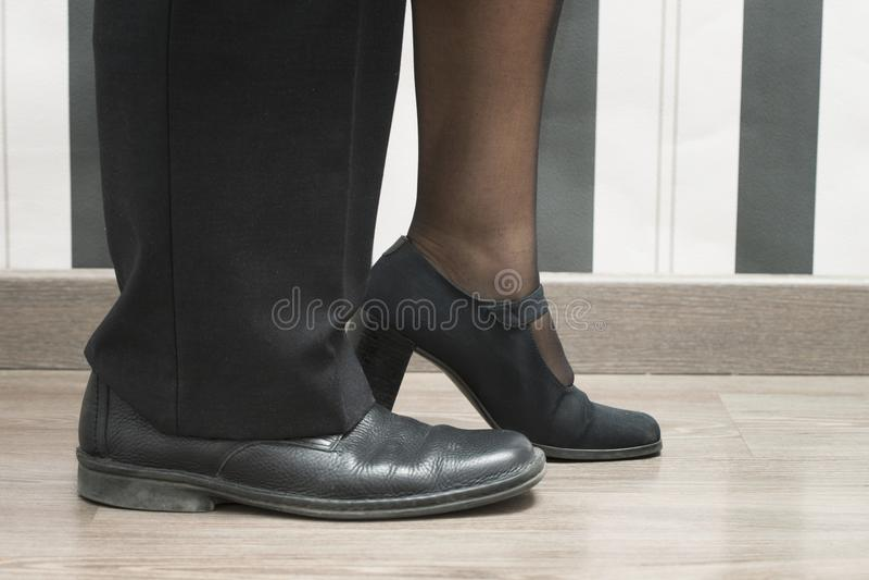 Man- och kvinnaledare royaltyfri bild