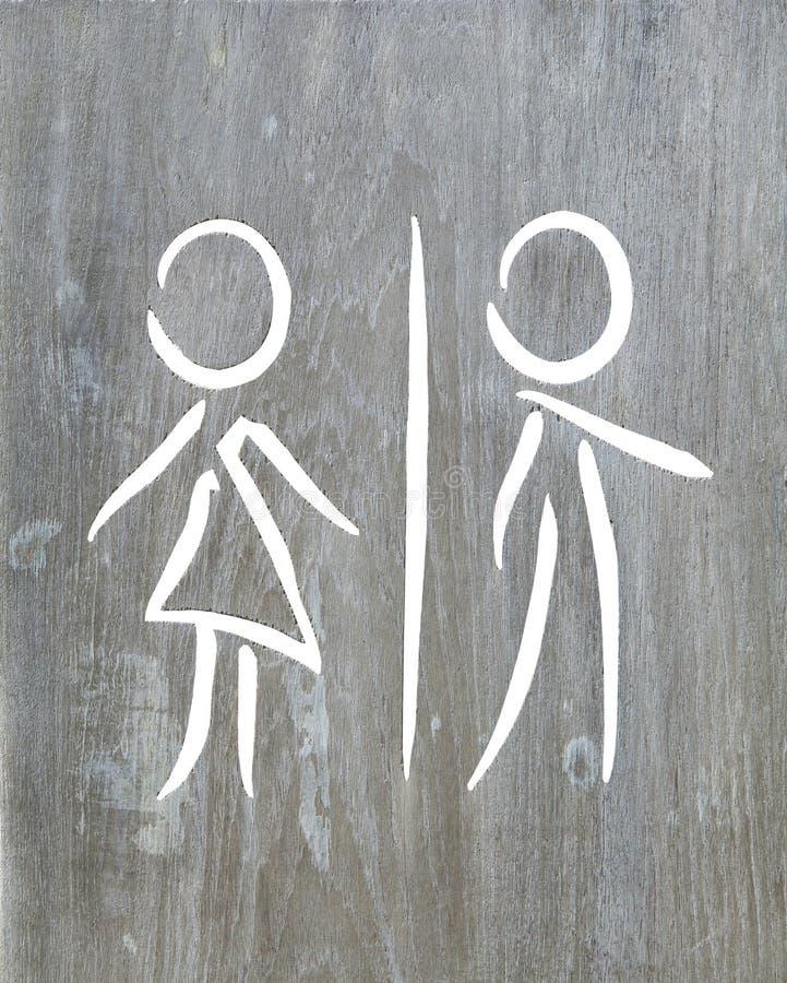 Man- och kvinnasymbolsideal royaltyfri fotografi