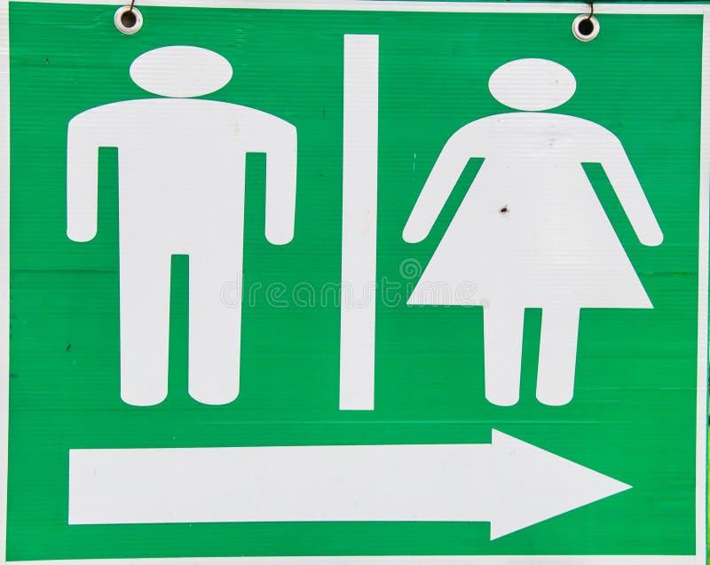 Man- och kvinnatoaletttecken arkivfoto