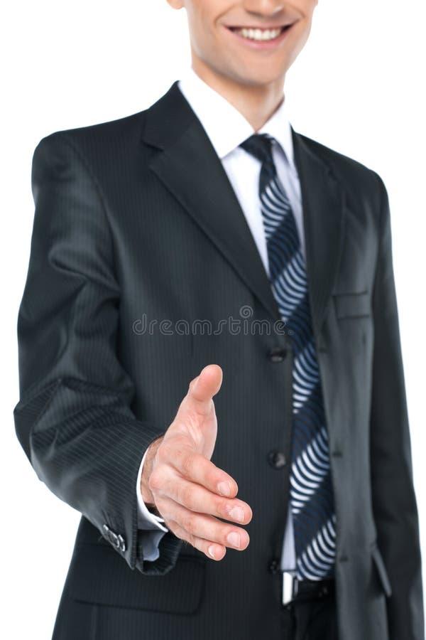 Man offering handshake. stock image