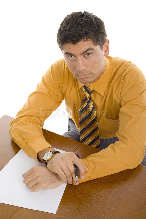 Download Man at office desk stock image. Image of executive, sitting - 2218175