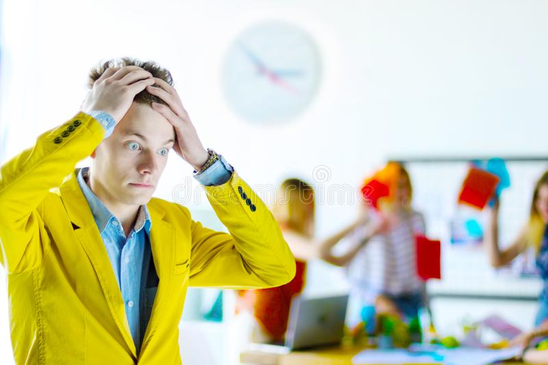 Designers and architects working at office royalty free stock image