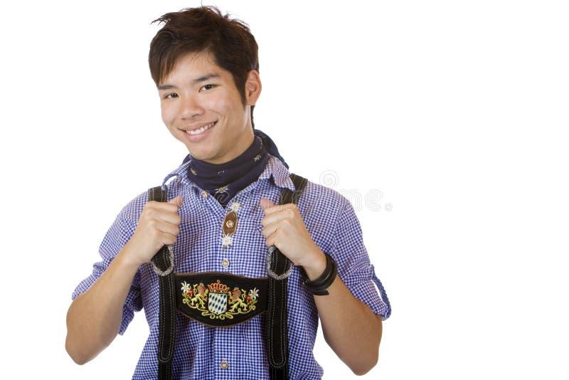 Download Man In Oktoberfest Leather Trousers (Lederhose) Stock Image - Image: 12614677