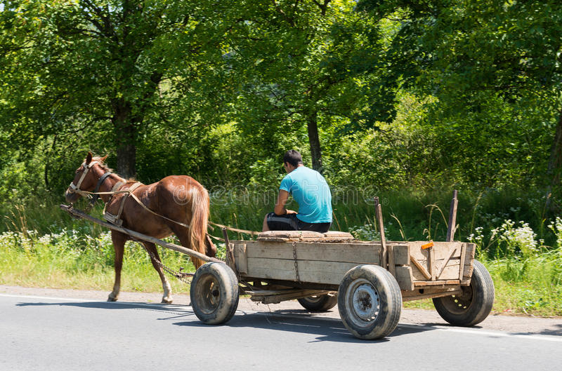 Download Man and old wooden cart stock photo. Image of farmer - 43024530