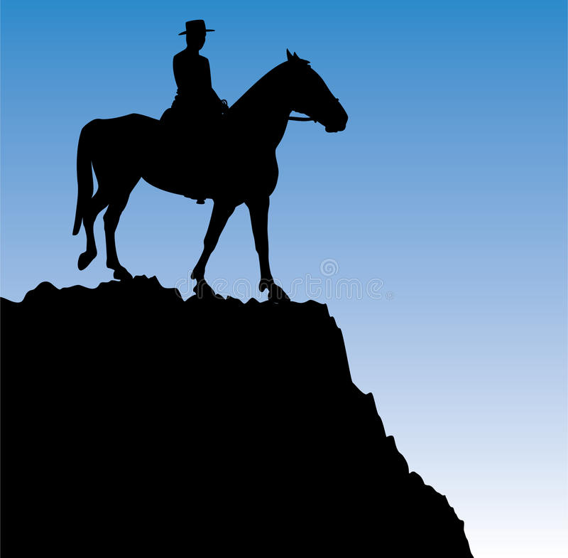 Free Man On The Horse Royalty Free Stock Photography - 20348157