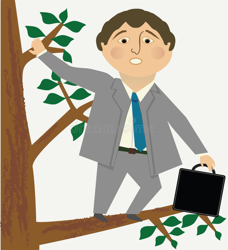 Free Man Out On A Limb Royalty Free Stock Image - 54918876