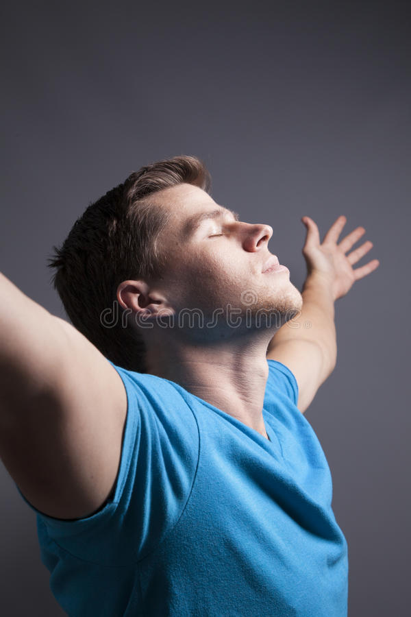 Man With Outstretech Arms royalty free stock photo