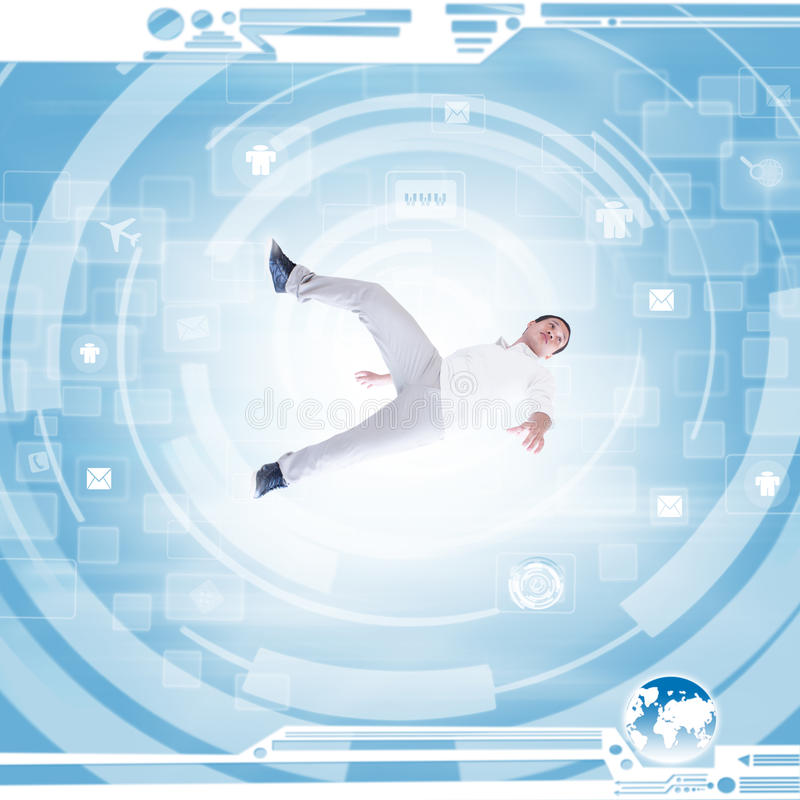 Download Man In Modern Technology Environment Stock Illustration - Image: 29905659