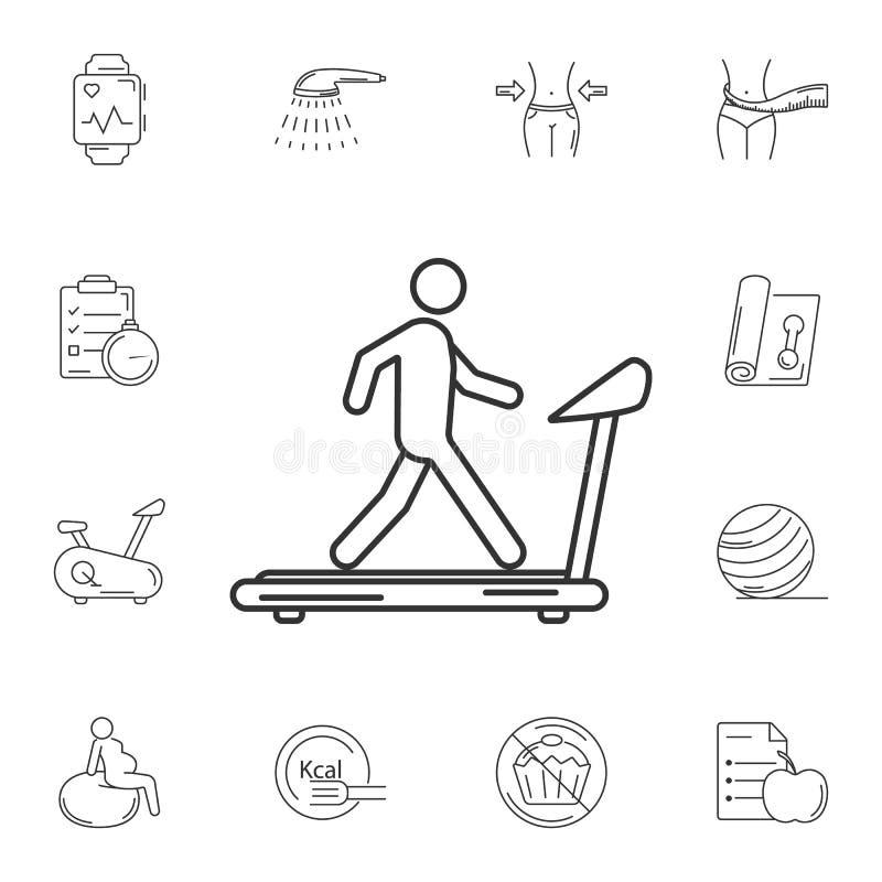 Man på trampkvarnsymbol Enkel beståndsdelillustration Mannen på trampkvarnsymboldesign från idrottshall- och hälsosamling ställde royaltyfri illustrationer