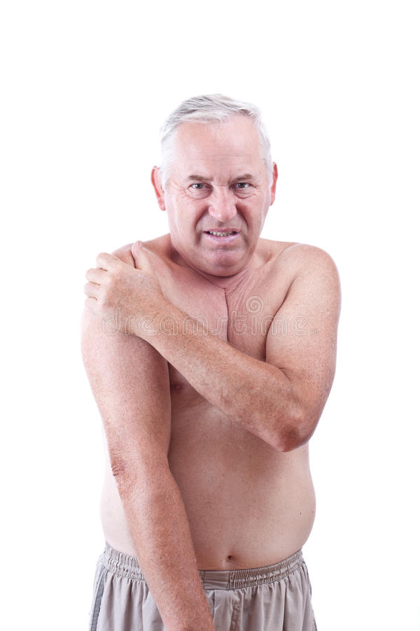 Download Man with pain stock image. Image of shoulder, hand, stress - 21507421