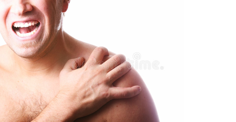 Man In Pain! royalty free stock images