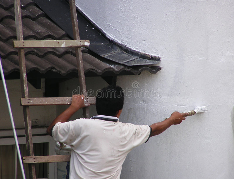 Download Man painting #2 stock photo. Image of wall, work, maintenance - 10380