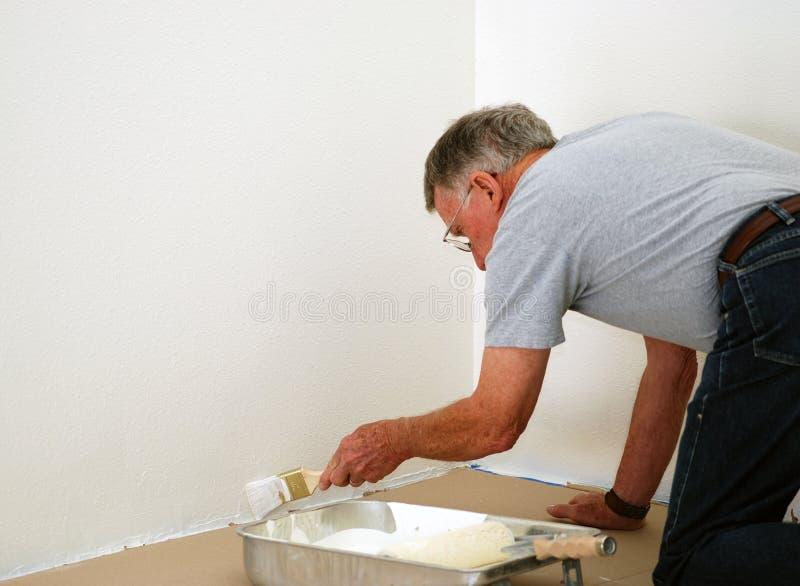 man painting senior στοκ εικόνα