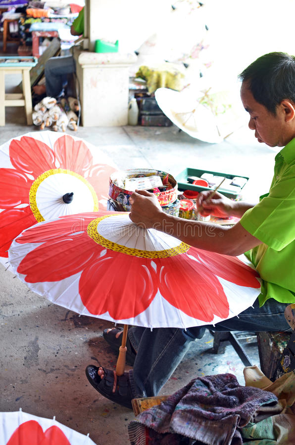Download Man painting umbrella editorial stock image. Image of tradition - 25052274
