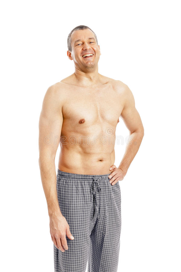 Man pajamas stock photography