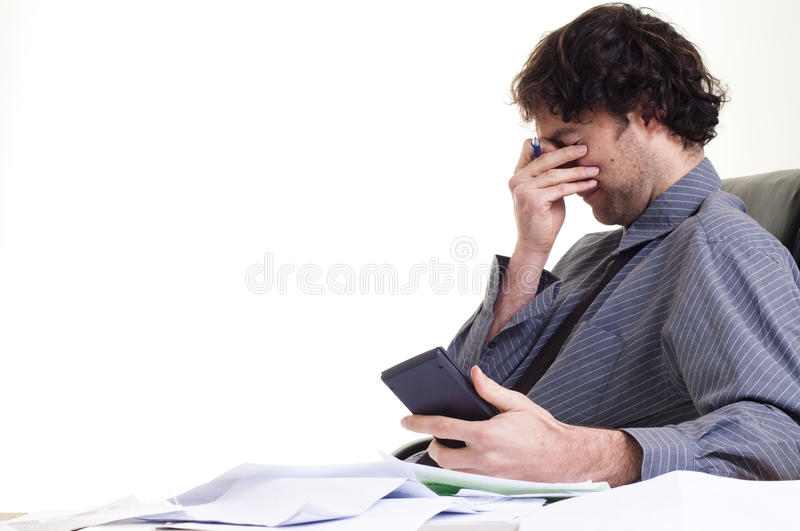 Download Man and paper work stock photo. Image of debt, document - 11029050