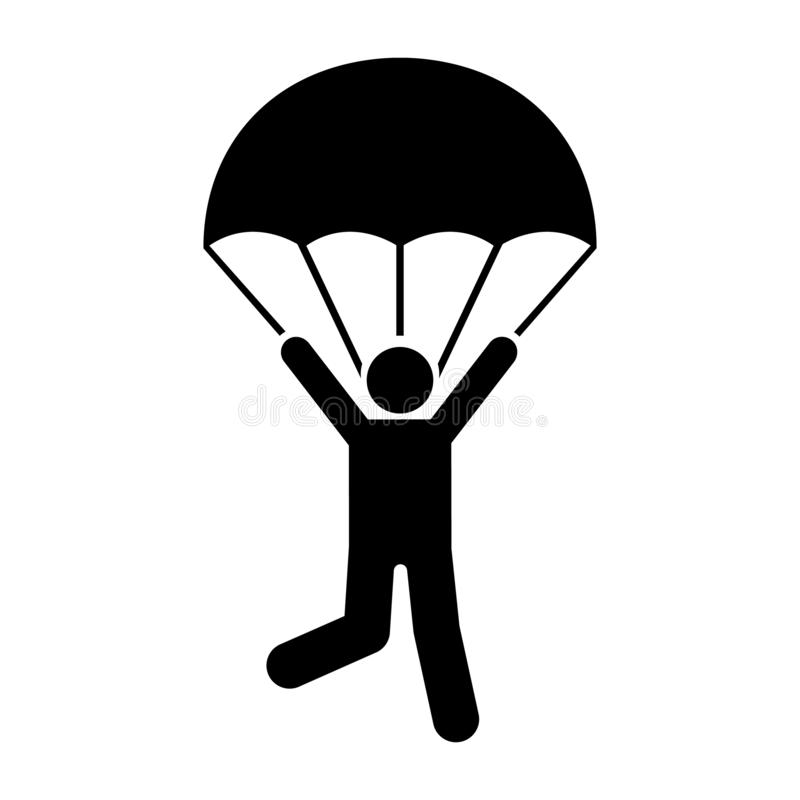 Man parachute skydiving travel icon. Element of pictogram adventure illustration vector illustration