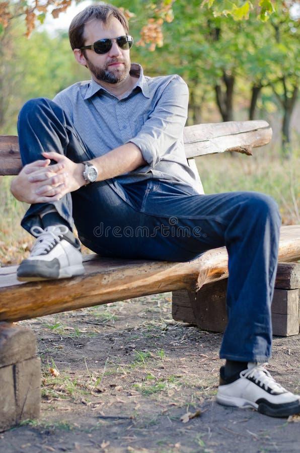 Man in park royalty free stock photos