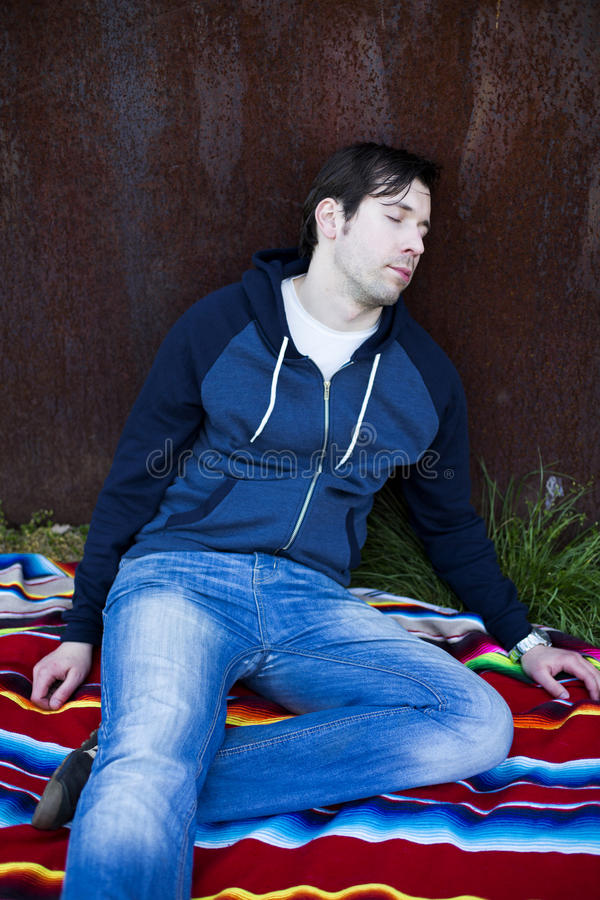 Man passed out royalty free stock photo