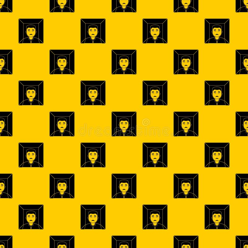 Man pattern vector. Man pattern seamless vector repeat geometric yellow for any design vector illustration